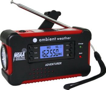 Ambient Weather WR-111B Solar Hand Crank