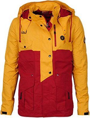 Angel Cola Women's Waterproof Front-Zip Hooded Outdoor Hardshell Rain Jacket