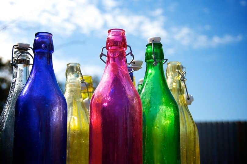 Beautiful coloured bottles