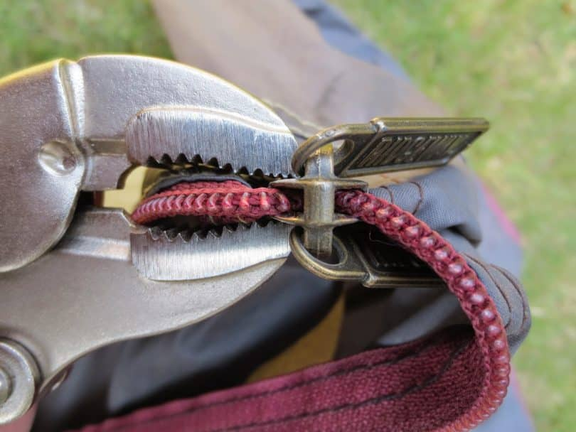Broken Tent Zipper