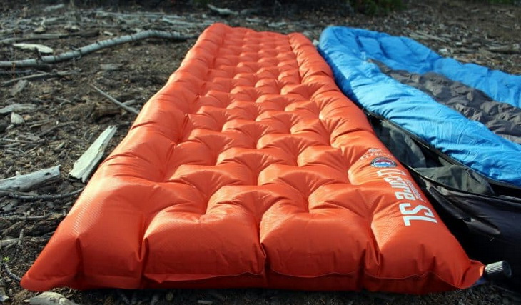 Resistant-sleeping-pad on the ground