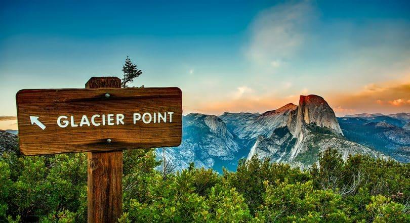 Yosemite in California glacier point