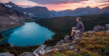 a man admiring the landscape