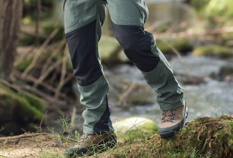 a picture of a man wearing a pair of hiking pants
