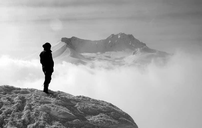 hiking alone