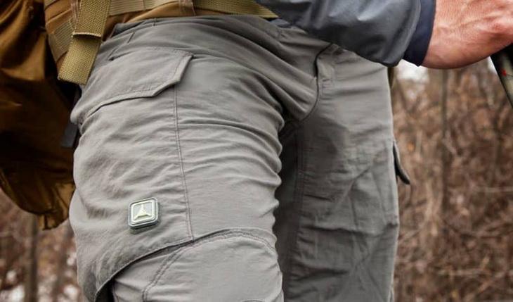 Man wearing a lightweight DWR hiking pants