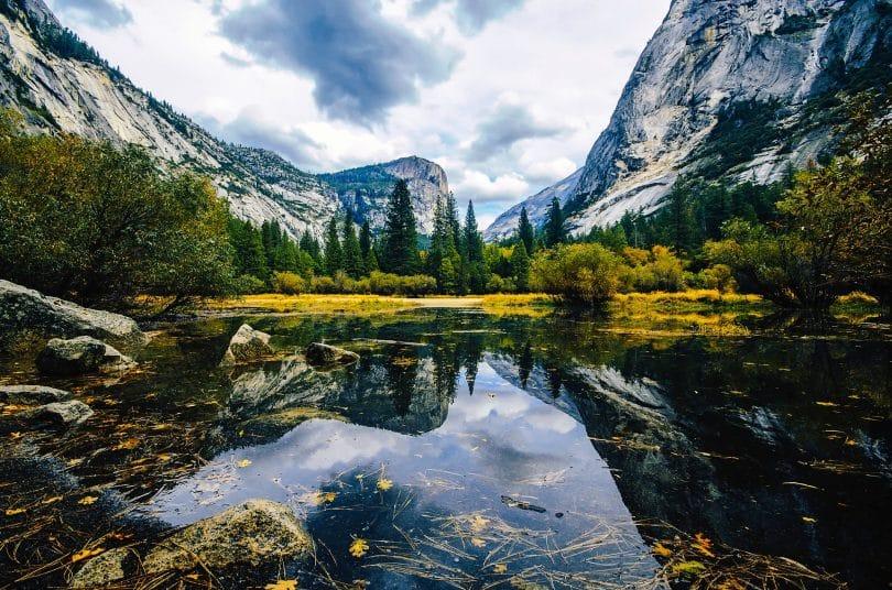 Yosemite in California mirror lake