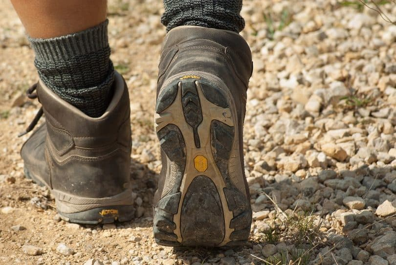 shoes of a mountain hiker