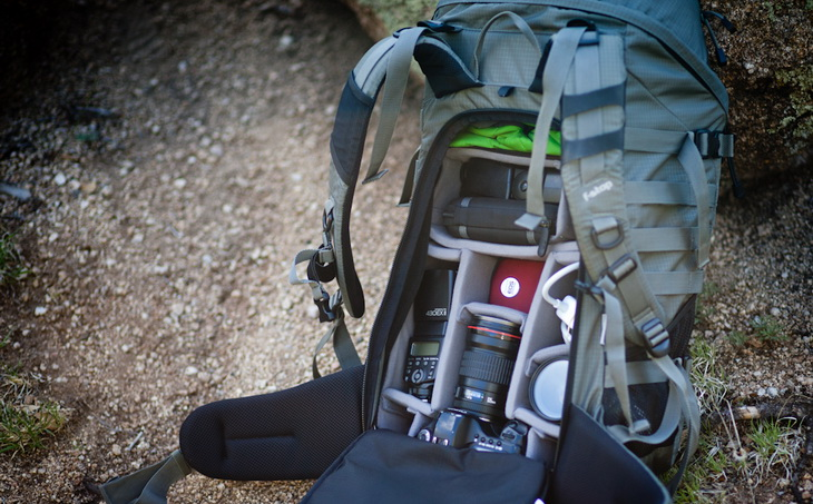 Image showing an open camera backpack
