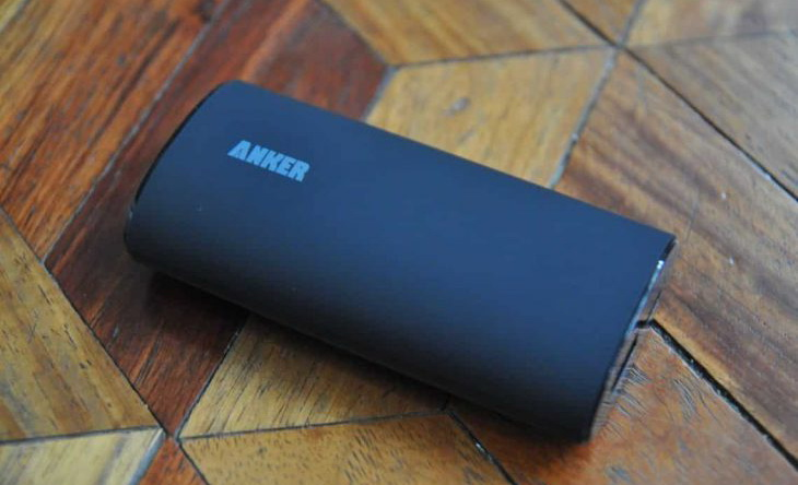 Anker smar phone charger on the floor