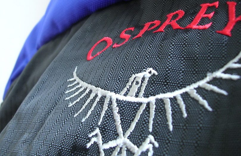 close-up photo of Osprey Backpack