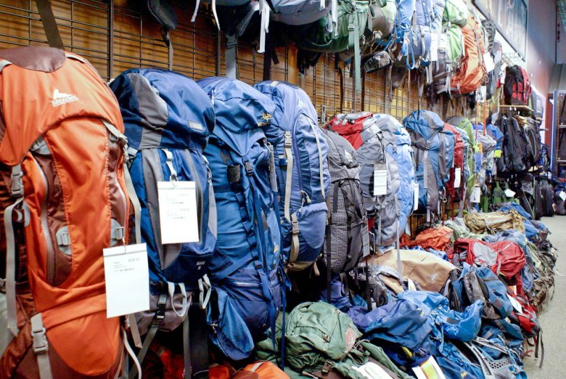 picture of colorful backpacks