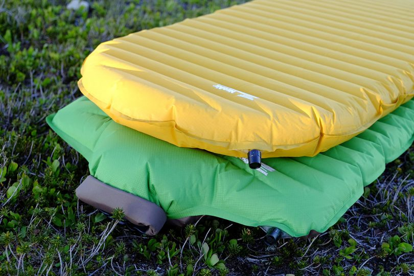 Backpacking Sleeping Pads on the ground