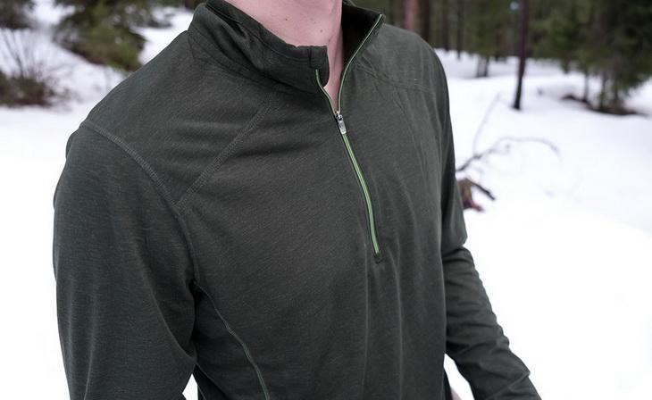 Image showing a man wearing a Heavyweight base layer