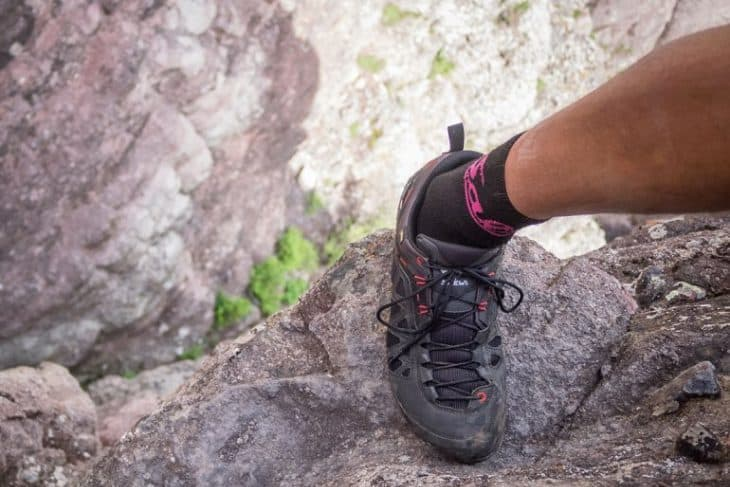 Climbing Telluride's Via Ferrata in the Salewa Firetail 3