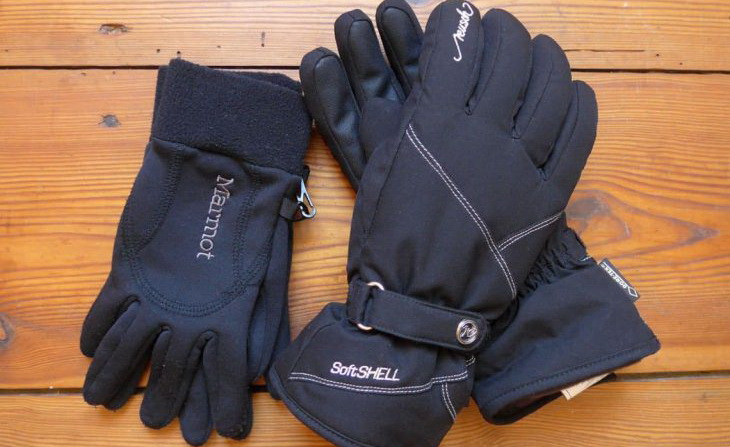 Image showing a pair of Marmot Softshell winter gloves
