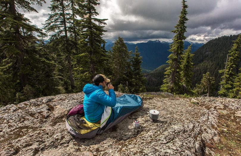 With a durable Gore-Tex build and single overhead pole, this bivy is 4-season ready and surprisingly comfortable