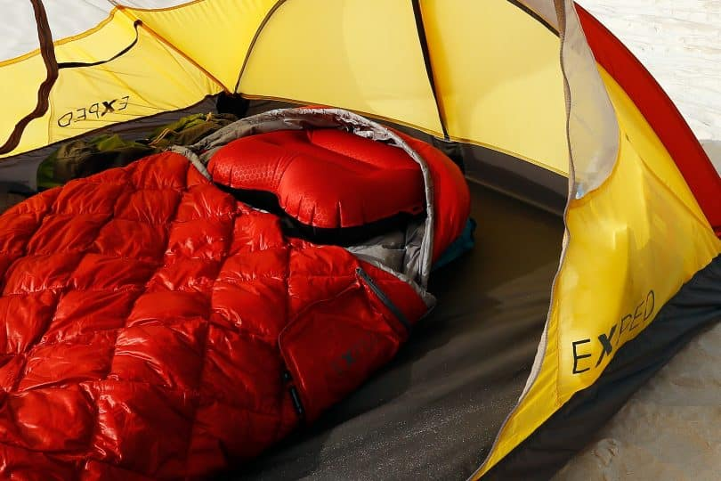 a picture of Air Pillow XL in a tent