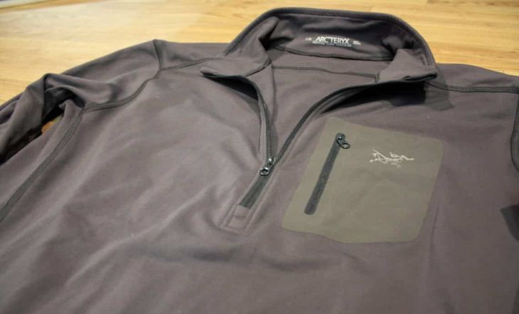 a-picture-of-Arcteryx-RHO-AR-base-layer-on-the-ground