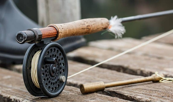 Artistic image of a fly-fishing