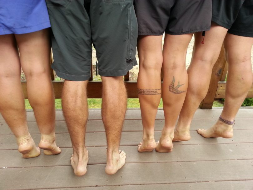 picture of a barefoot hiking group
