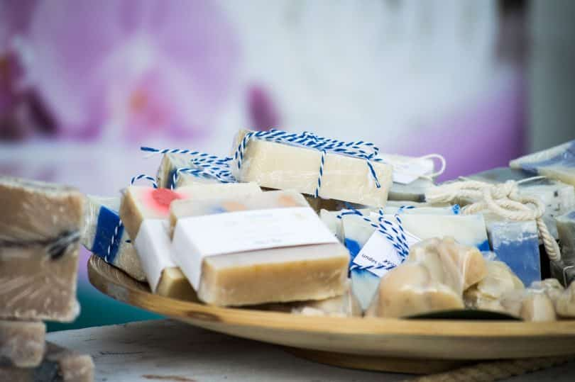 picture of homemade soaps on the table