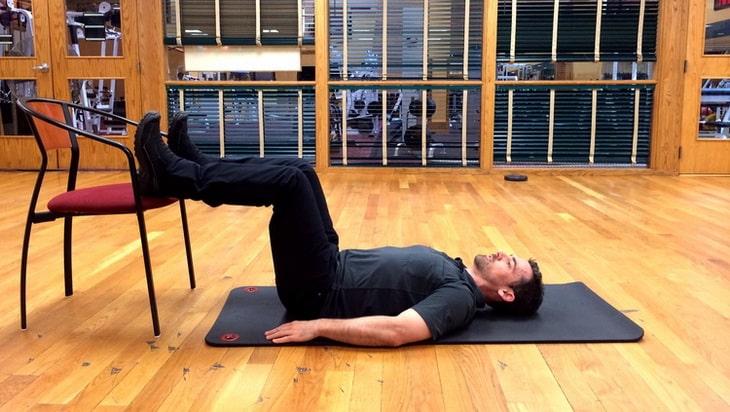 man doing Leg Curl exercise