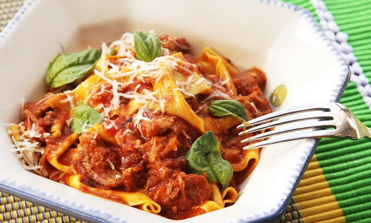 Cheesy Pasta with Meat Sauce