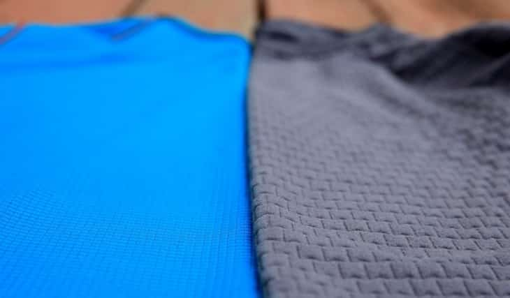 Image showing the materials of two different base layers