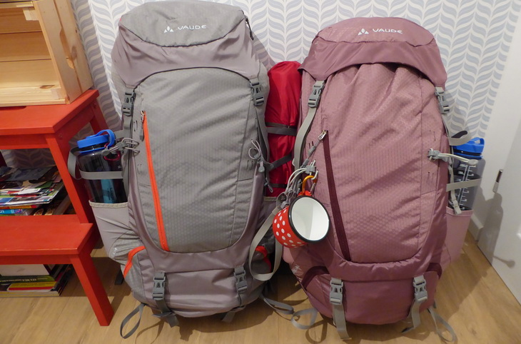picture of two backpacks ready for adventure