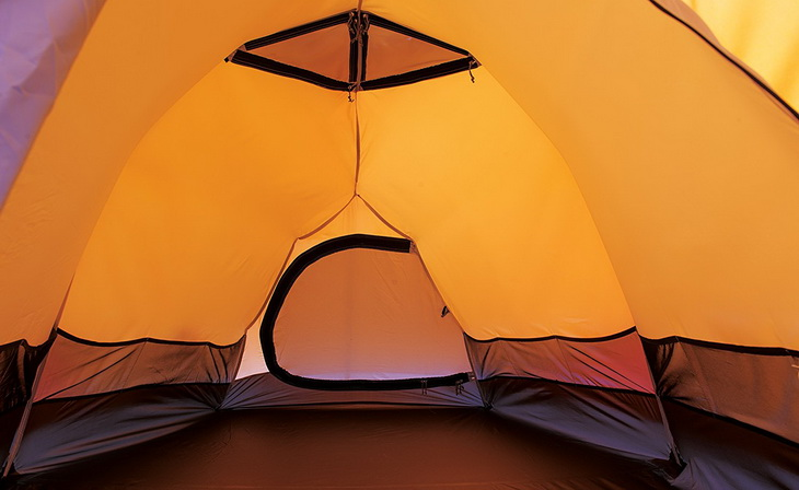 Image showing the space inside of a tent