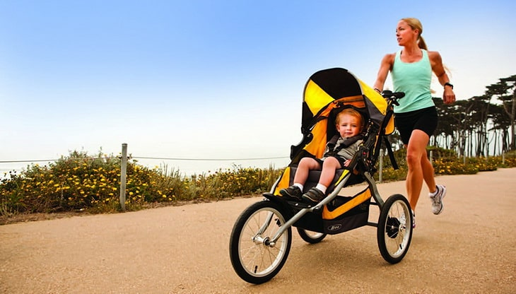 Image showing a woman with a Hiking Stroller and her child