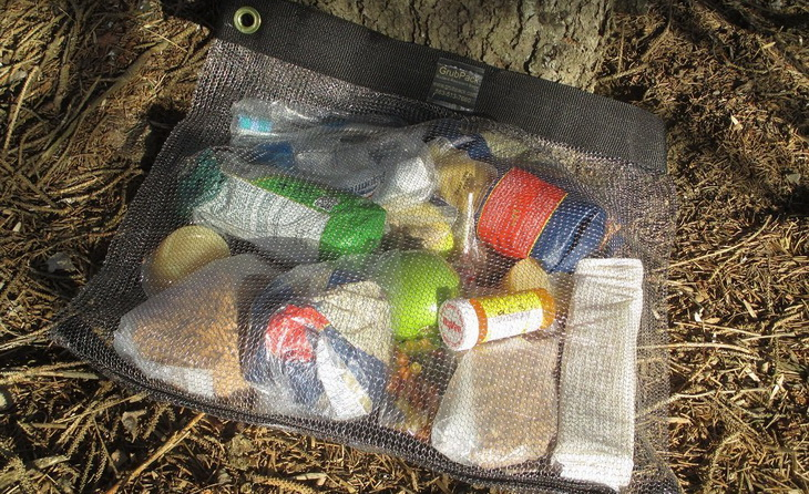 Image showing things in a Loksak Opsak bag