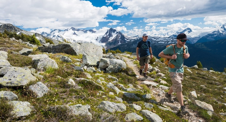Hiking the Overload Trail on Blackcomb