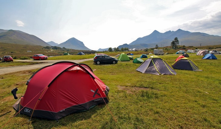Picture showing a campsite