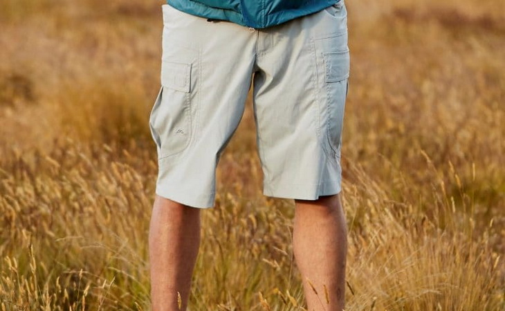 /Image showing a man wearing a pair of cargo hiking shorts