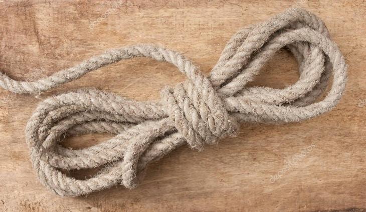 Coil of hemp rope