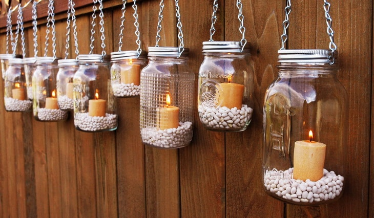 DIY Jar Lanterns Hanging