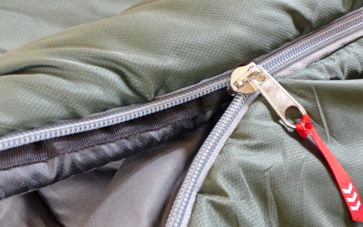 close-up picture of a sleeping bag