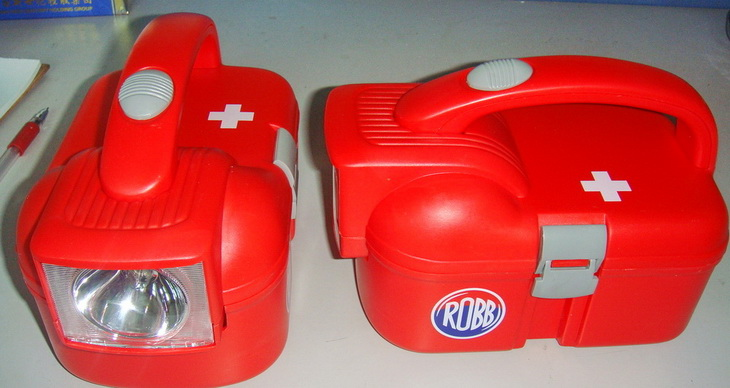 First Aid Kit Tool Box With Emergency Flashlight Torch