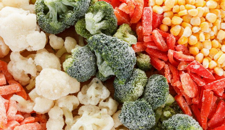 Close Up Picture of Frozen Vegetables