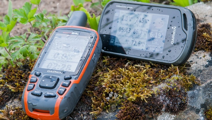 Garmin Oregon 650t and Garmin GPSmap 64s