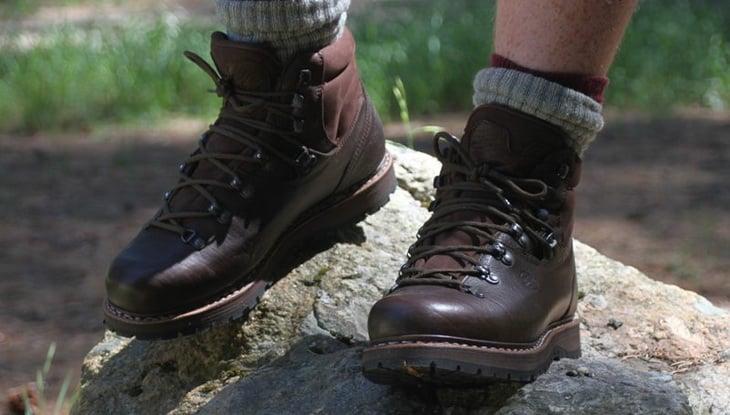 Man Wearing Hanwag Tashi Boots