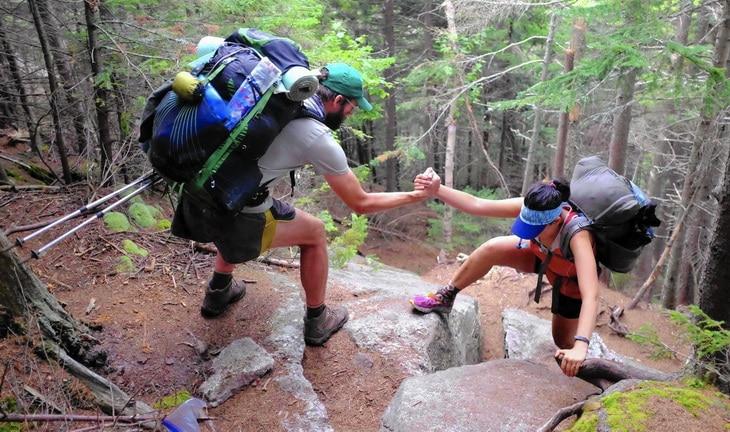 Hikers on Appalachian Trail