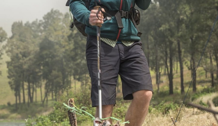 Image showing a hiker wearing a pair of hiking shorts