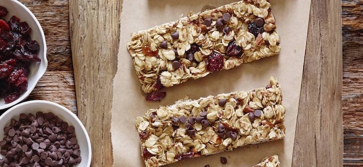 Homemade Granola Bars on the Table