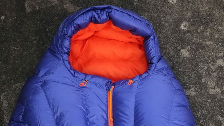 Hood of a Patagonia Sleeping Bag