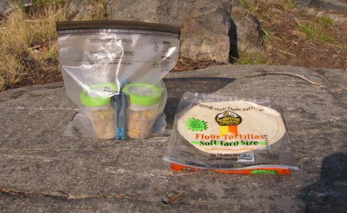 Image showing some food in Odor Proof Bags for Backpacking