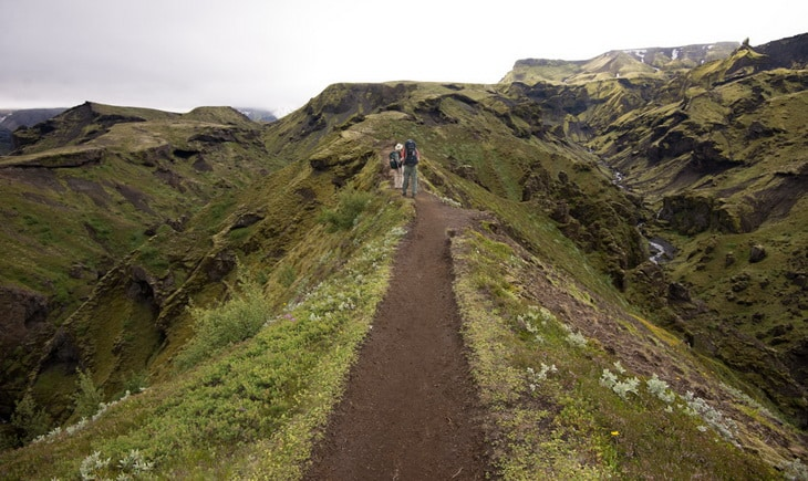 The Laugavegurinn Trail in Iceland