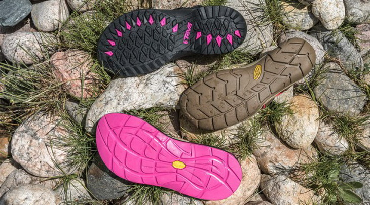 Image showing the soles of Chaco, Teva or Keen sandals